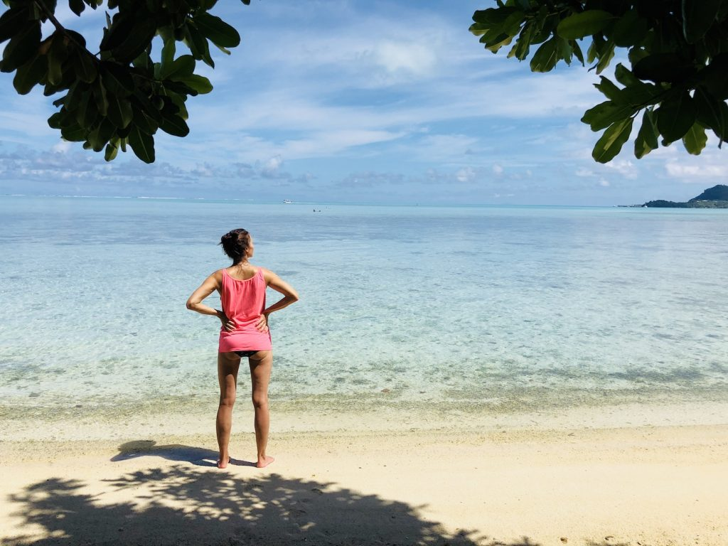 Matira Beach, Bora Bora, Südsee Urlaub