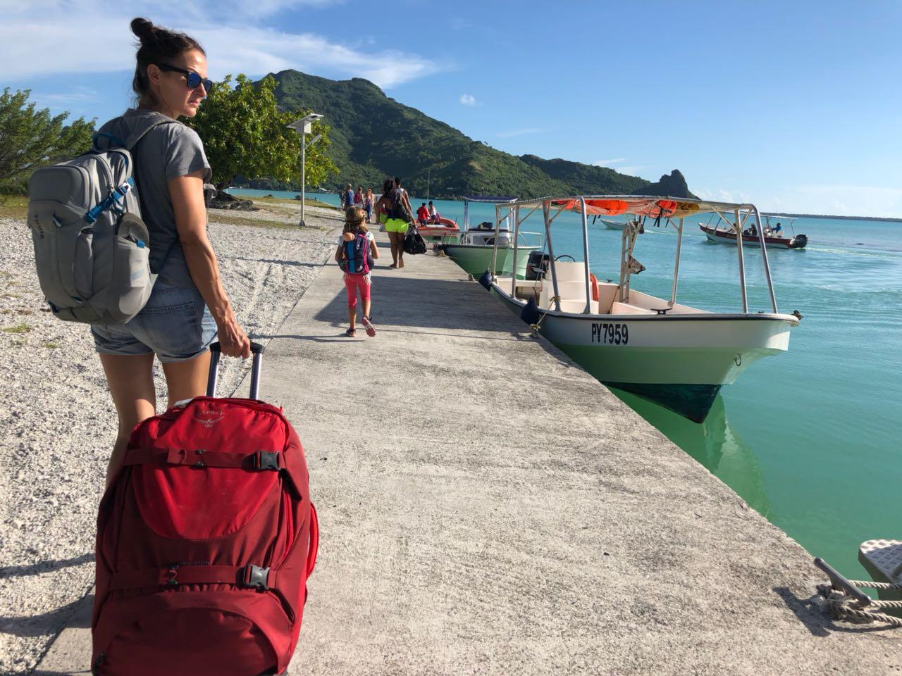 Auf dem Weg zum Abholboot, Maupiti