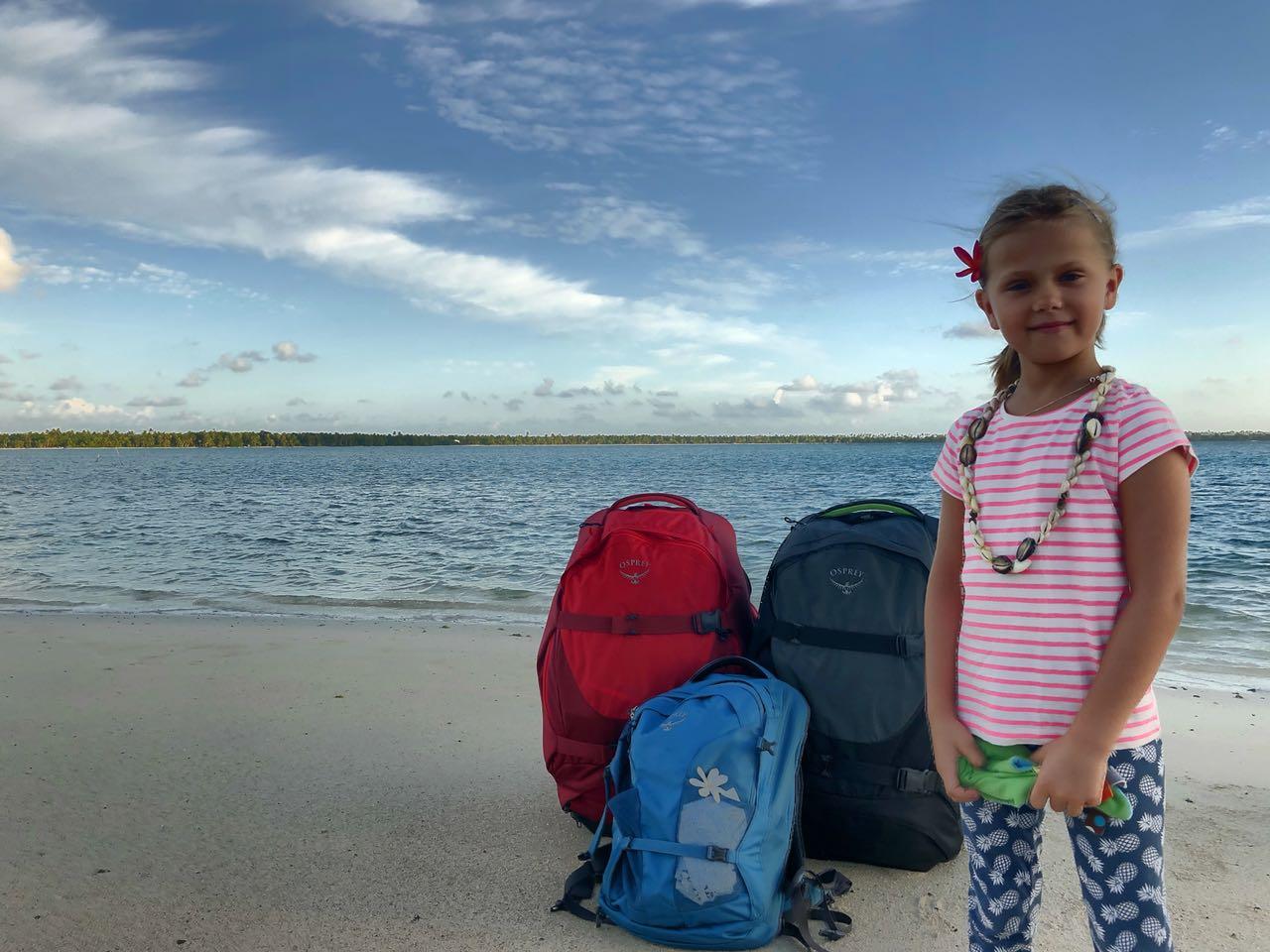 Abholung vom Strand auf Maupiti