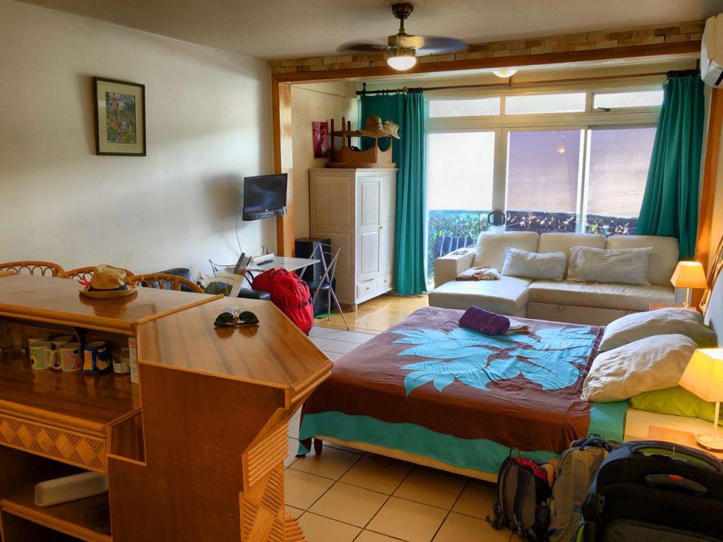 Zimmer im Apartmenthaus Fare Arearea Sweet Studio, Papeete, Tahiti, Südsee Urlaub
