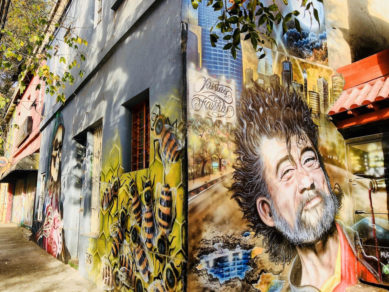 Streetart im Bellavista Viertel, Santiago de Chile