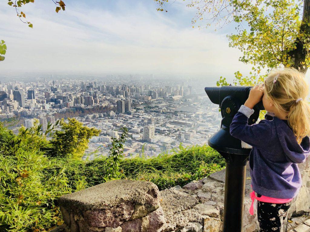 Aussicht vom Cerro San Cristobal, Santiago de Chile Tipps