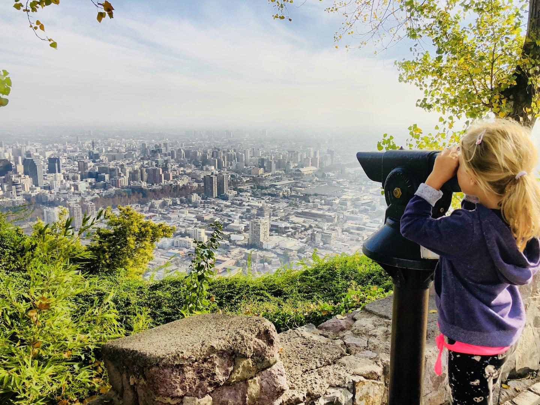 Aussicht vom Cerro San Cristobal, Santiago de Chile