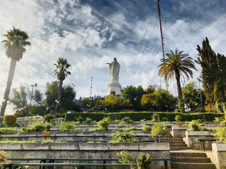 Virgin Maria auf dem Cerro San Cristobal, Santiago de Chile