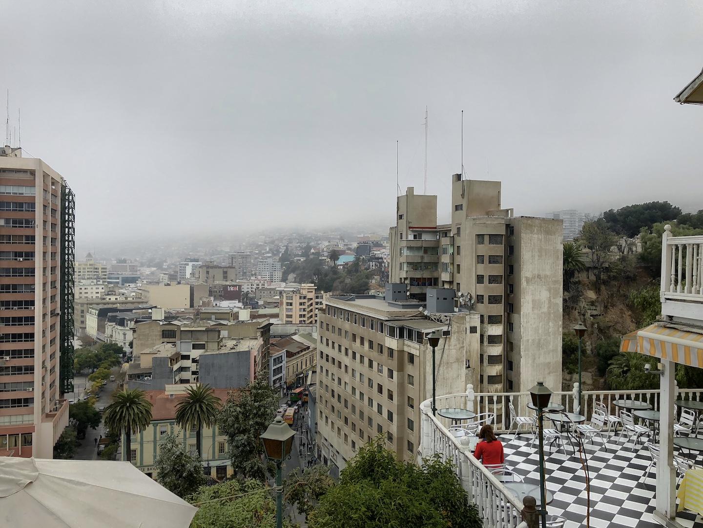 Ausblick Richtung Hafen in Valparaiso