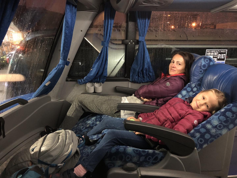 Im Bus nach Mendoza, Argentinien