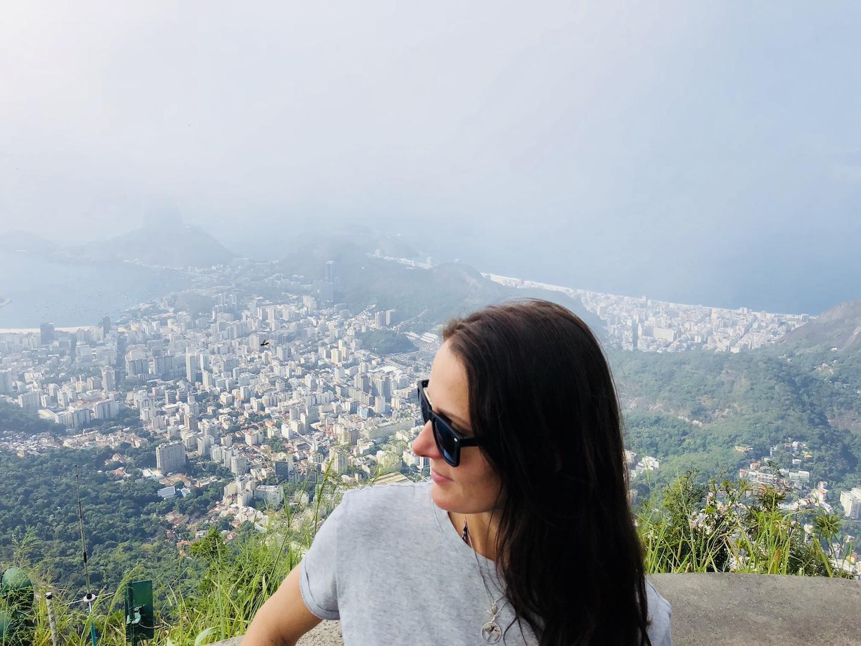 Aussicht auf Rio von der Christusstatue aus, Rio de Janeiro