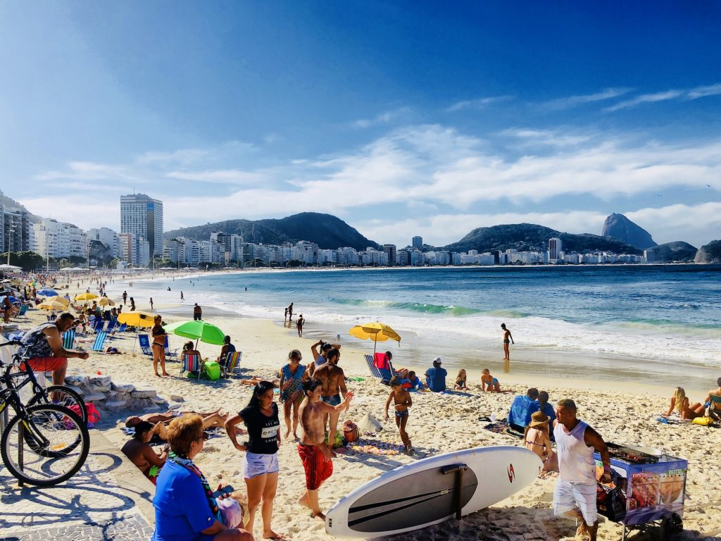 Blick auf die Copacabana in Rio