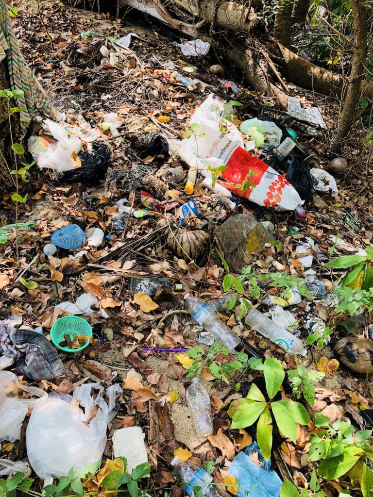 Müllstrand in Thailand, Kho Phangan