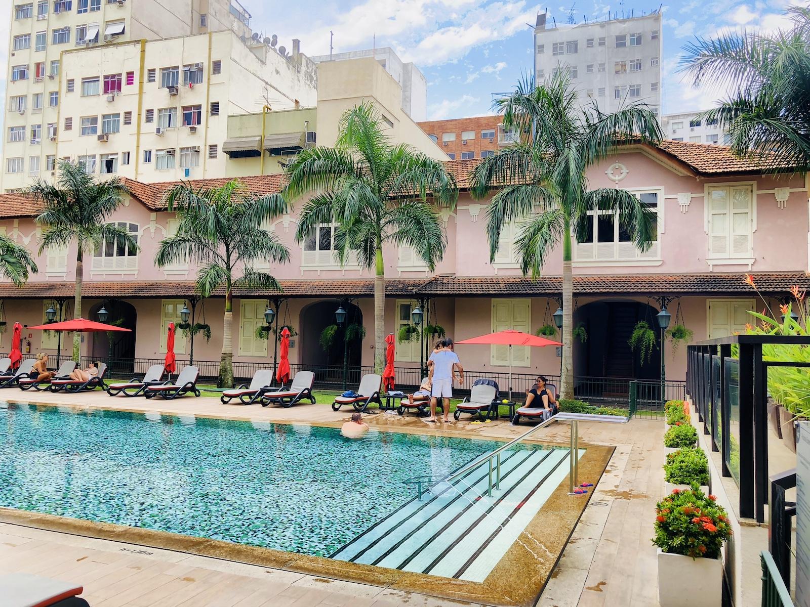 Unser schöner Pool im Hotel Vila Gale in Rio
