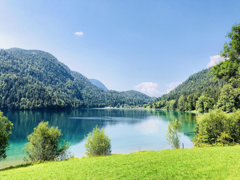 Blick auf den Hintersteiner See, Tirol, Österreich