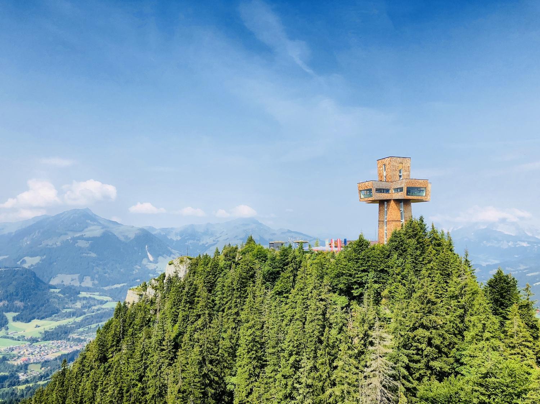 Blick auf das Jakobskreuz, Tirol in Österreich