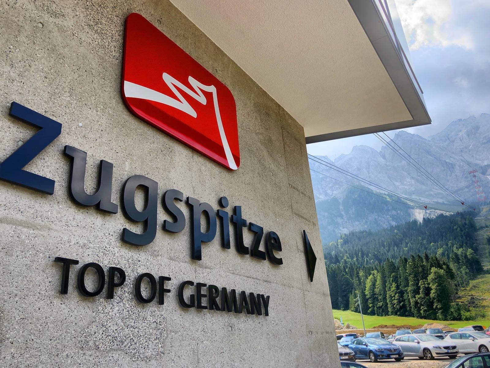 """Wandbeschriftung """"Zugspitze"""", Deutschland"""