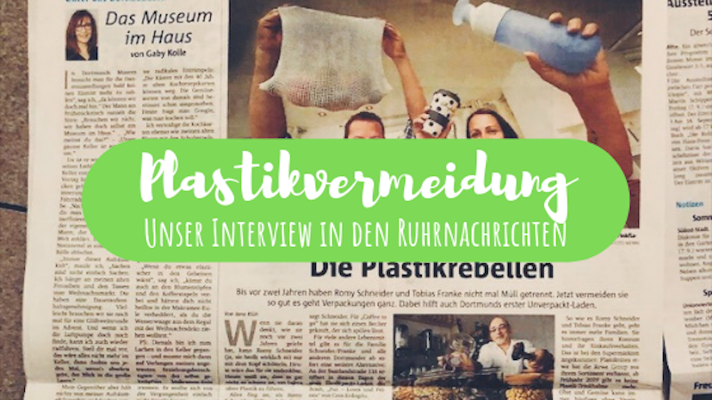 Ruhrnachrichten Interview Plastikvermeidung