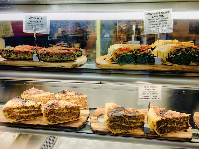 Essensauswahl in der Degraves Street