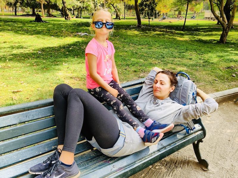 Pause im Park, Santiago de Chile