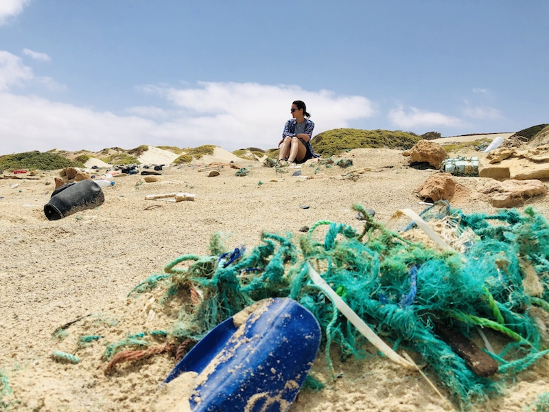 Verhüllter Strand beim Schiffswrack Cabo Santa Maria auf Boa Vista