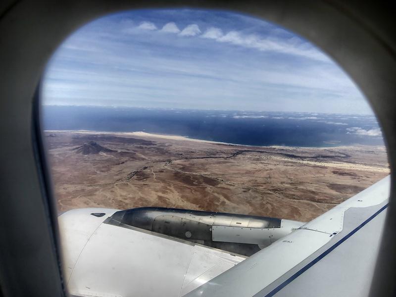 Kapverden, Boa Vista beim Landeanflug