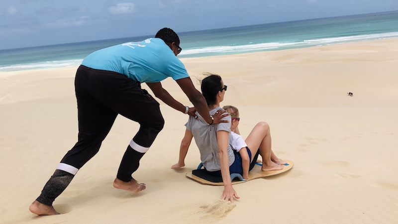 Sandboarding in Morro d'Areia, Boa Vista, Kapverden