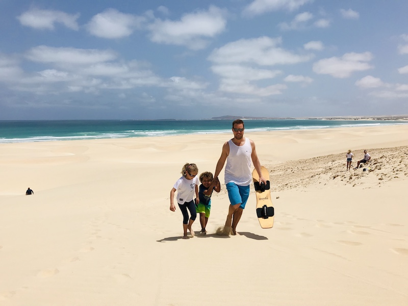 Sandboarding in Morro d'Areia