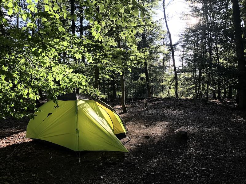 Zelten im Pfälzer Wald