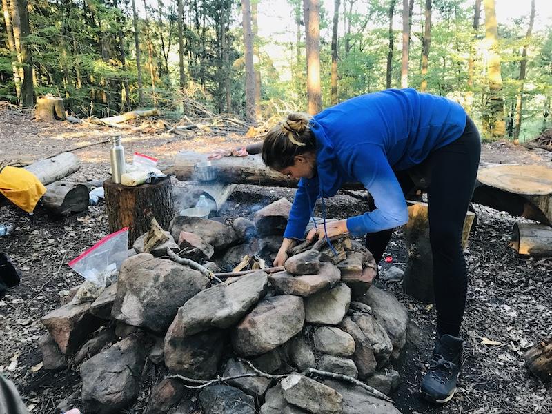 Auszeit in der Natur, Lagerfeuer