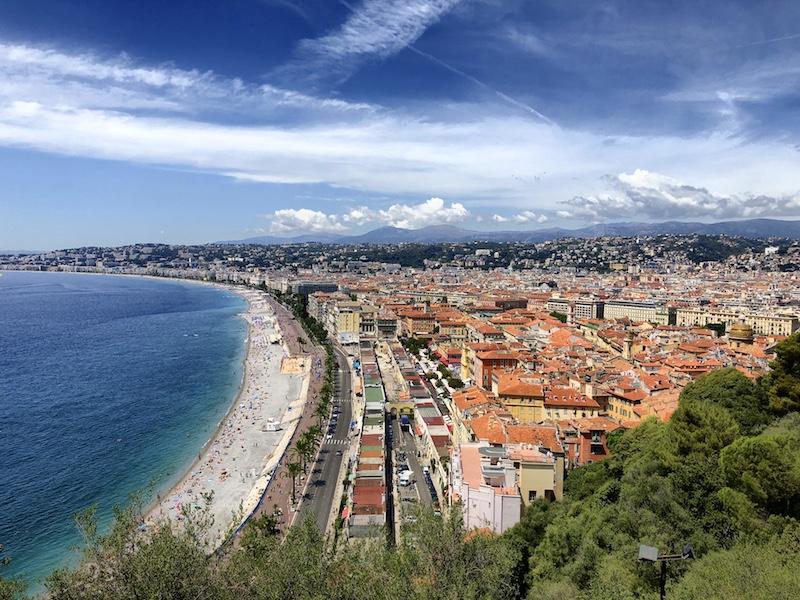 Blick auf Nizza, Südfrankreich