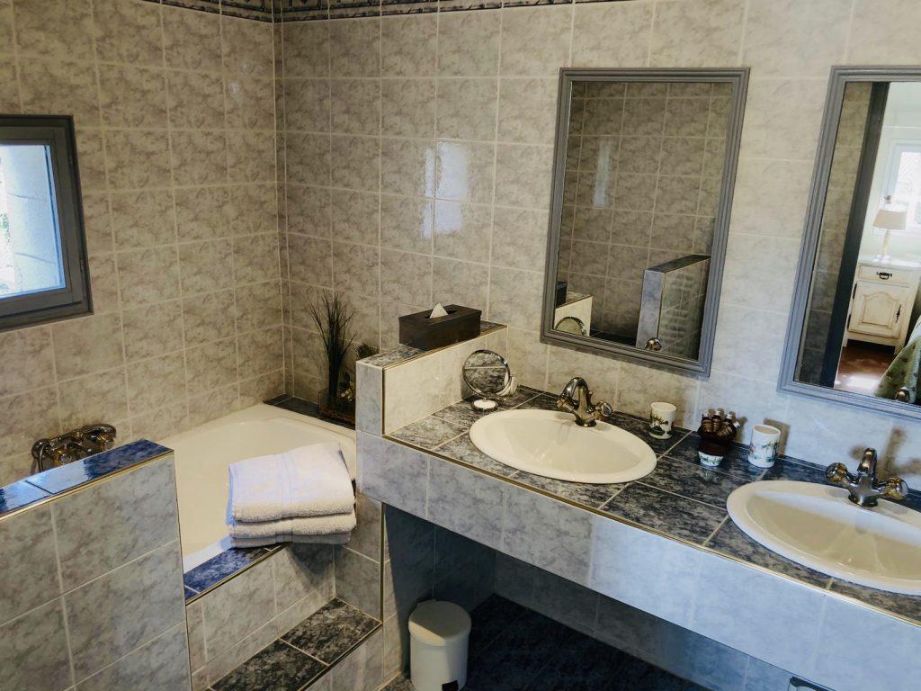 Blick ins Badezimmer der Unterkunft Le Lantana in Taillades, Provence