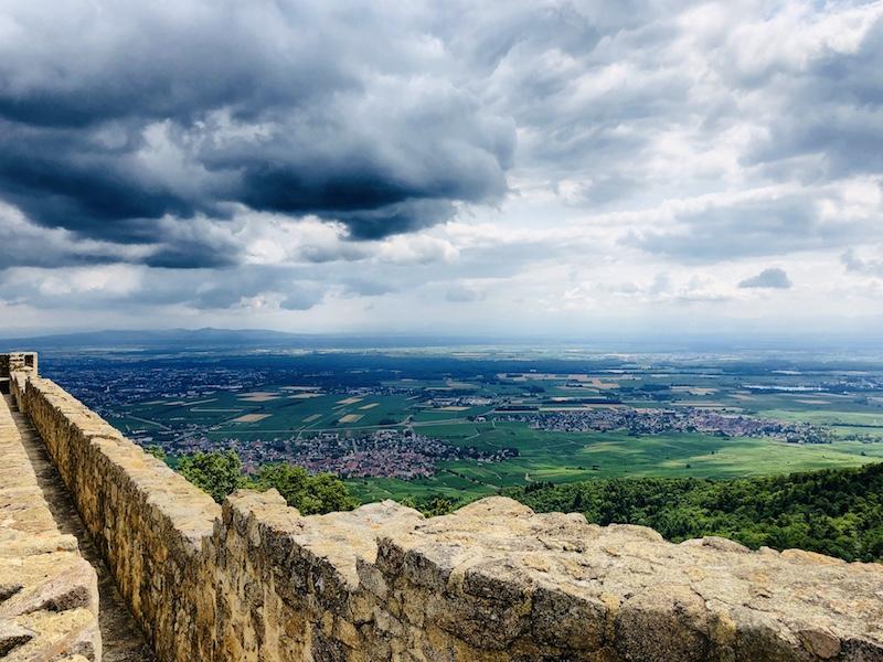 Aussicht von der Burg Hohlandsberg