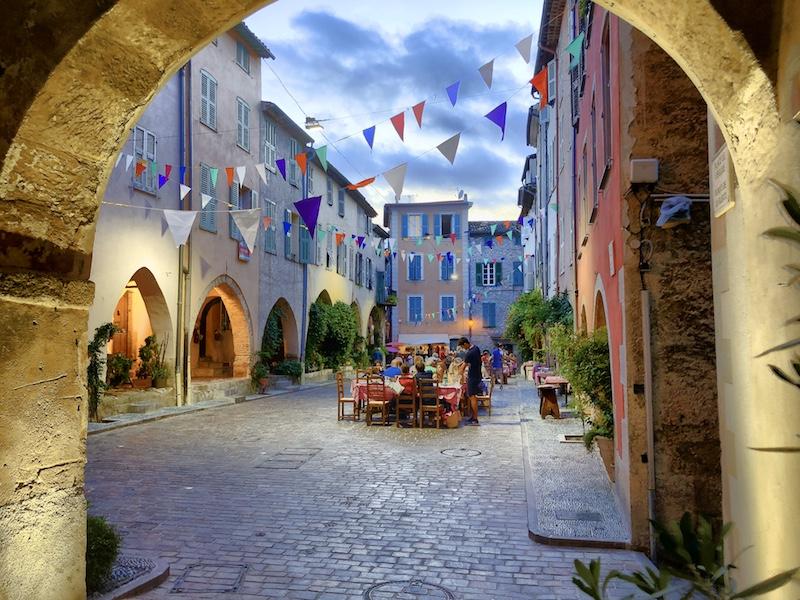 Place des Arcades in Biot, Côte d'Azur