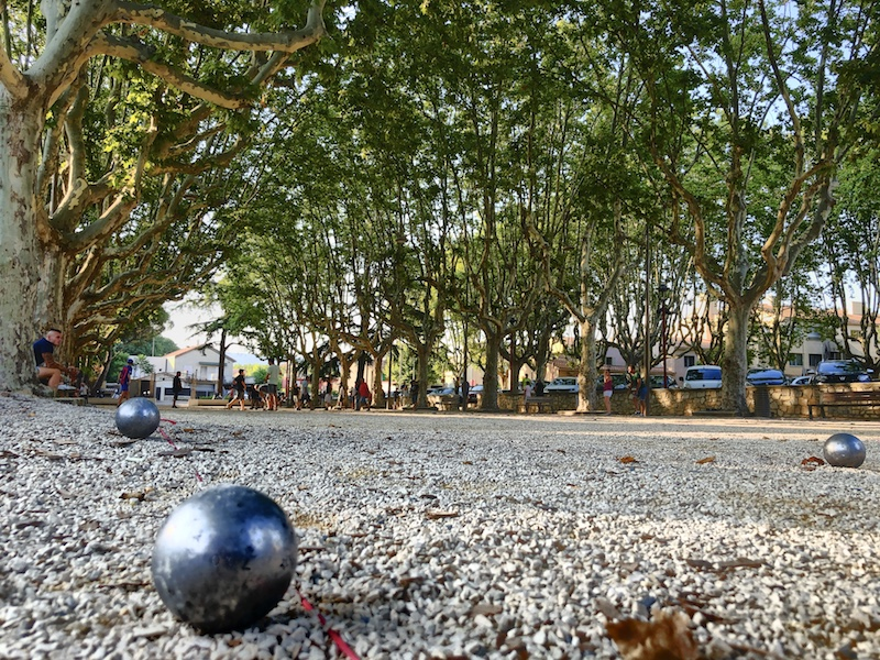 Bouleplatz in Saint-Cyr-sur-Mer