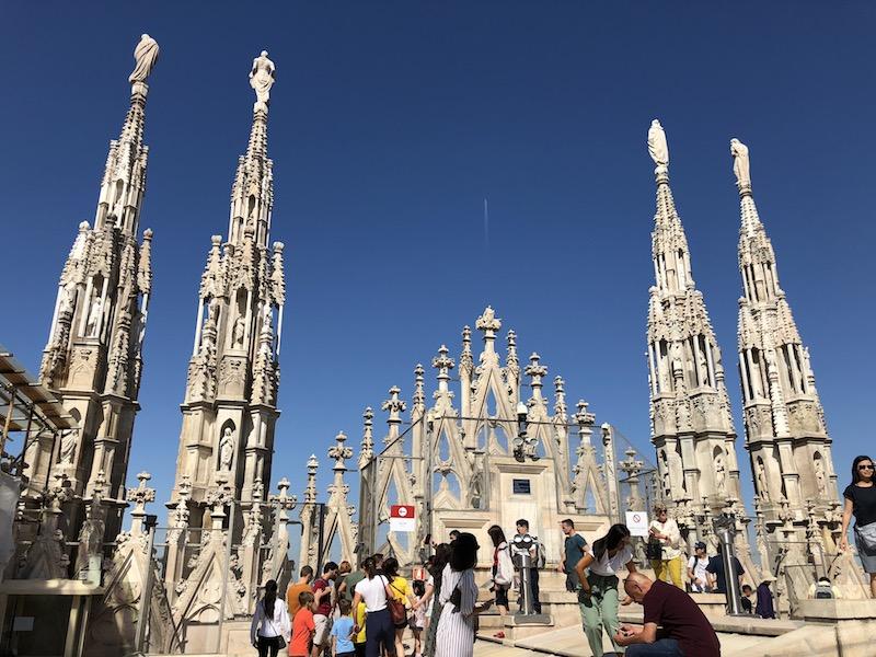 Oben auf den Domterrassen in Mailand
