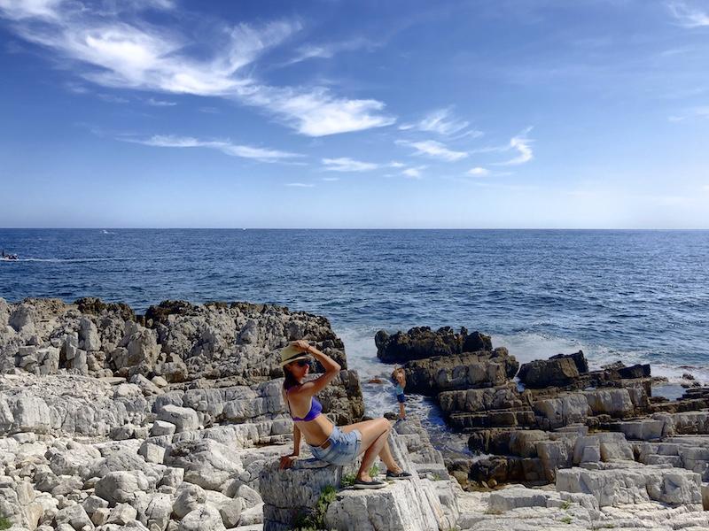 Felszerklüftungen am Cap d'Antibes