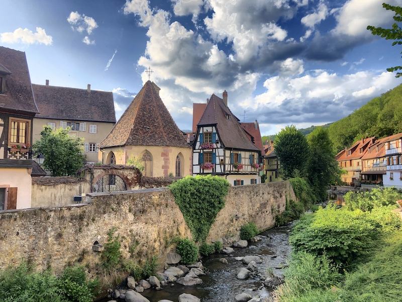 Blick auf Kaysersberg, Elsass