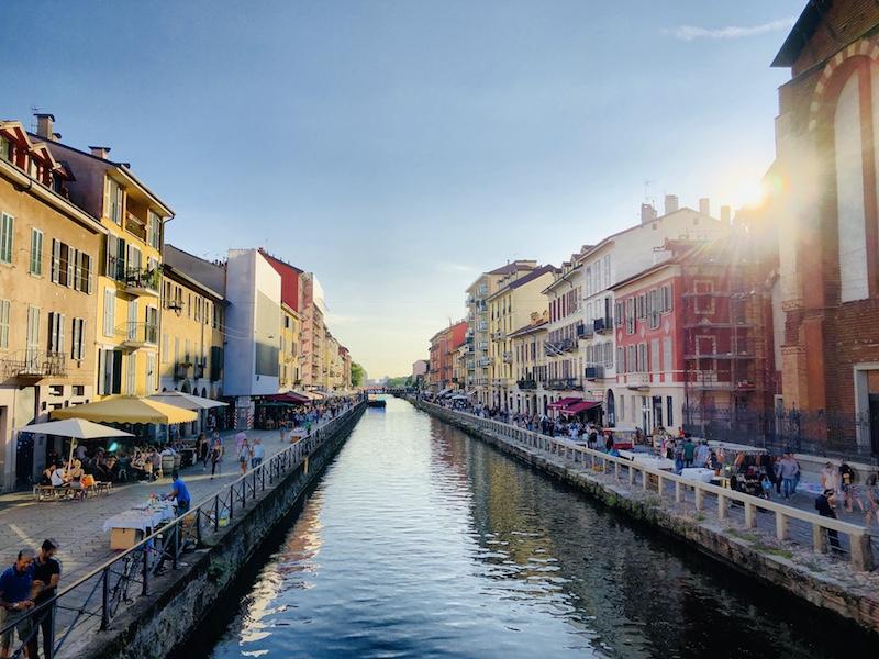 Navigli Viertel in Mailand