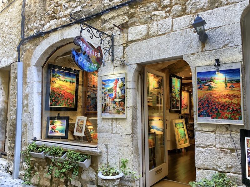Kunstgalerie in Saint-Paul-de-Vence, Côte d'Azur