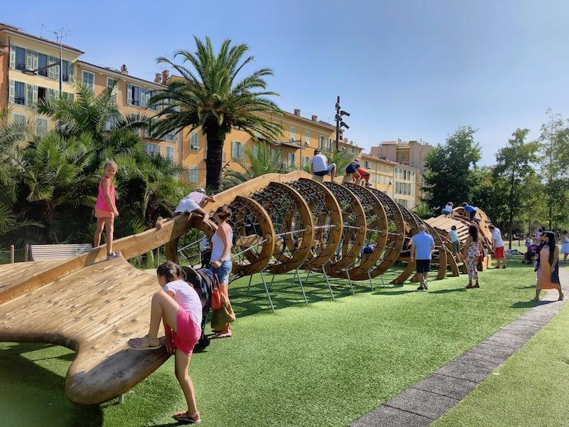 Spielplatz auf der Promenade du Paillon, Nizza