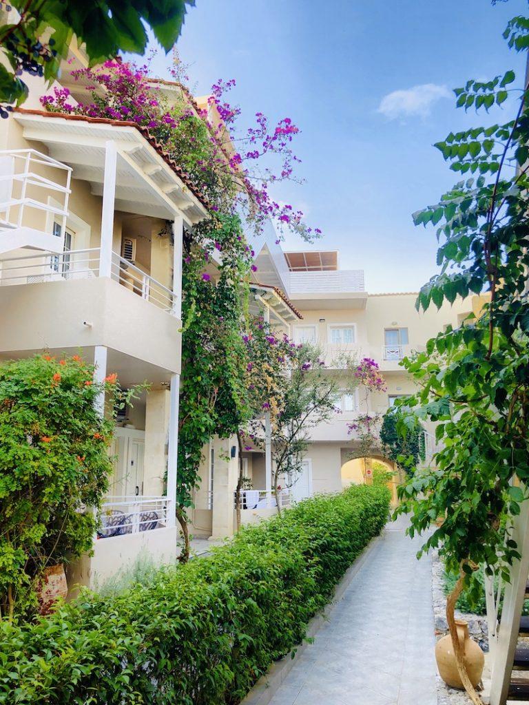 Corissia Beach Hotel, Kreta, Blick in den Innenhof