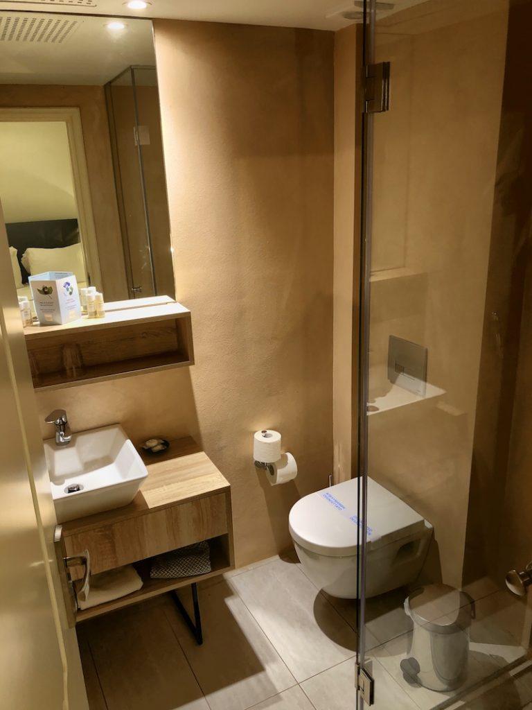 Badezimmer im Corissia Beach Hotel