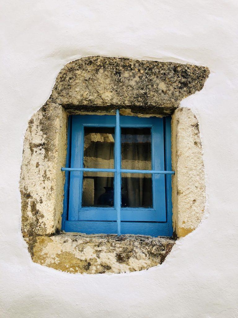 Schönes Fenster in Kalamitsi Alexandrou, Kreta