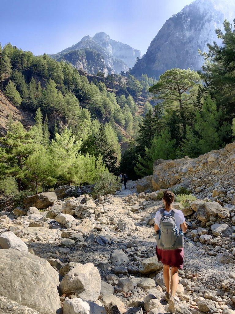 Samaria Schlucht, Wanderung auf Kreta