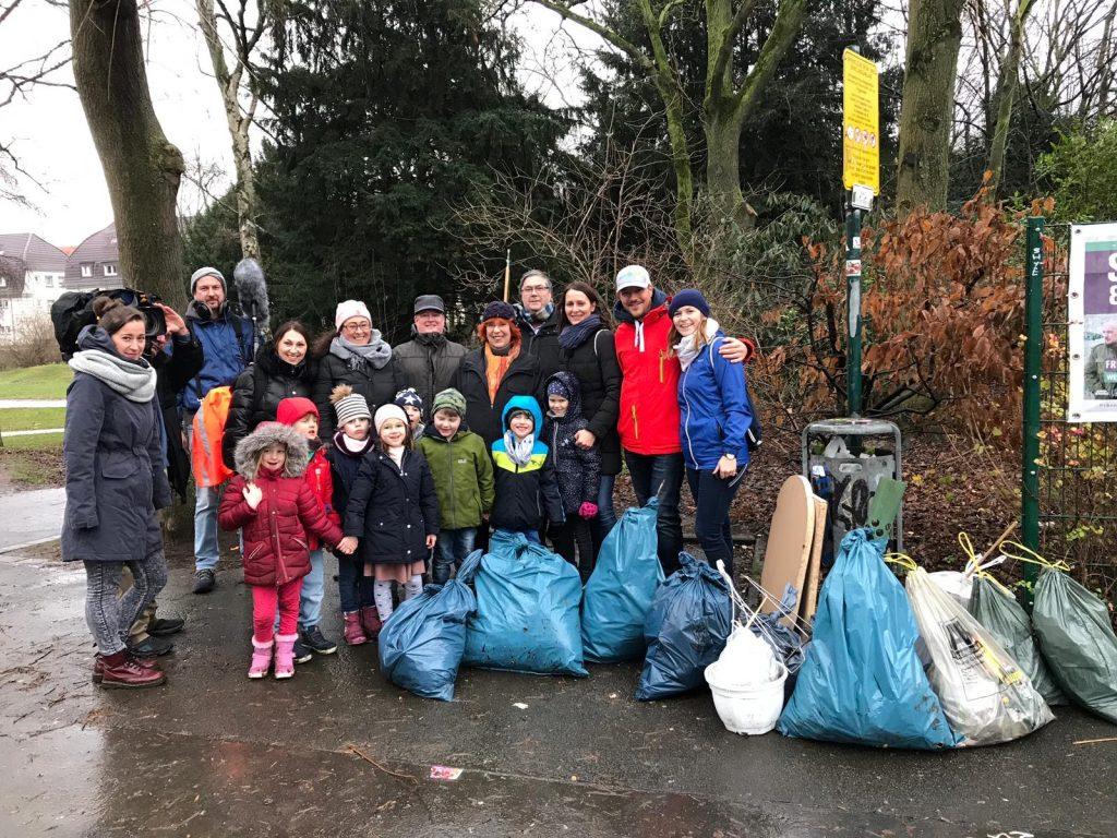 Cleanup Westpark mit der WDR Lokalzeit