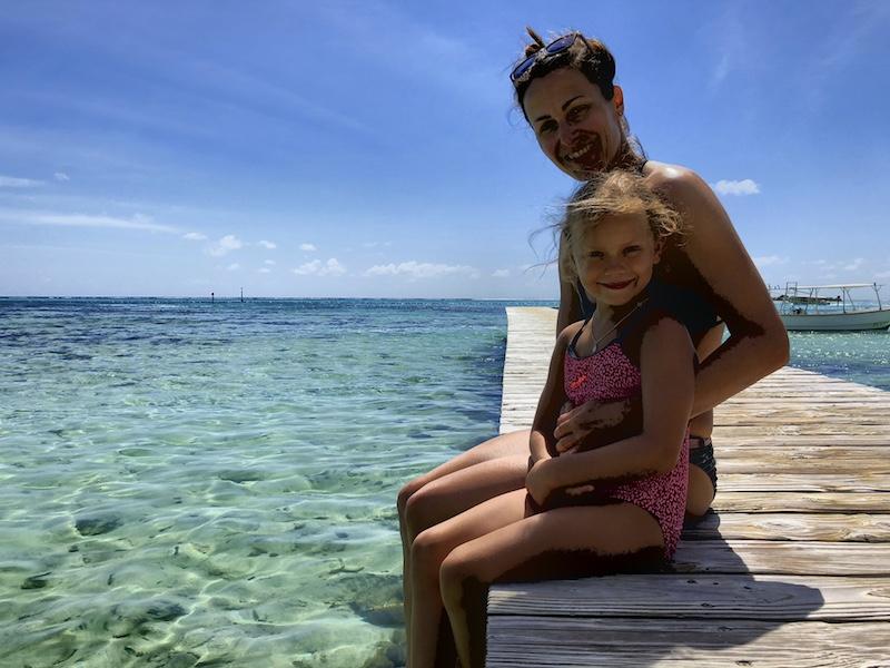 Am Strand auf Moorea, Südsee Urlaub