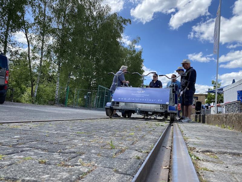 Draisinenfahrt - Start in Altenglan