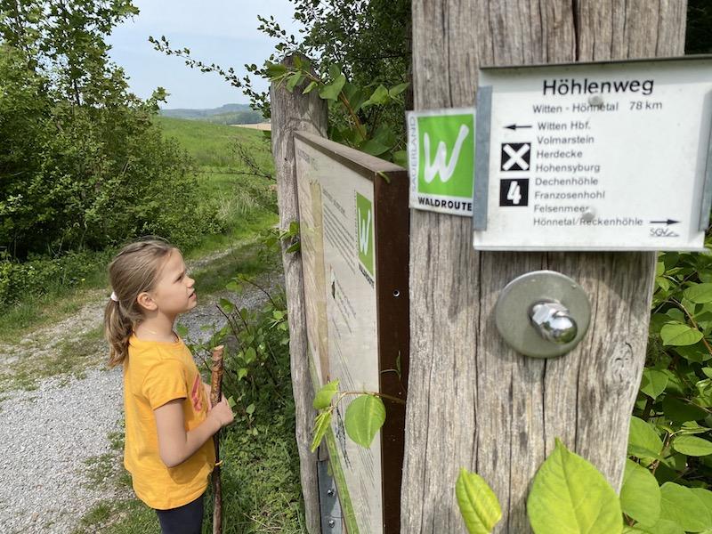 Hönnetal Wanderung, Waldroute