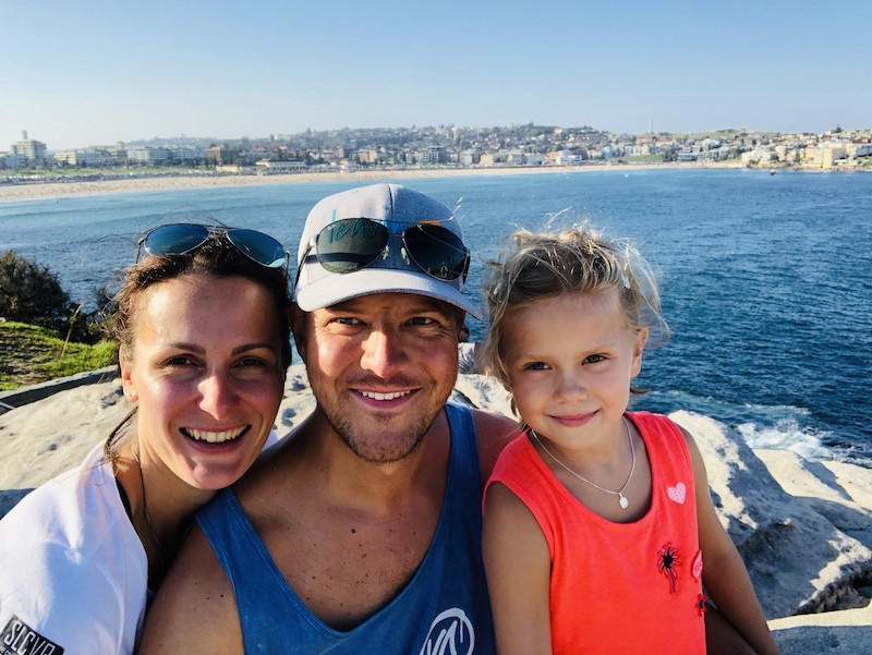 Familie am Bondi Beach, Sydney