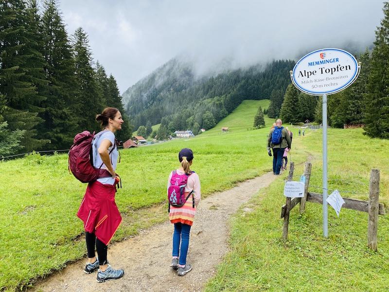 Weg zur Alpe Topfen