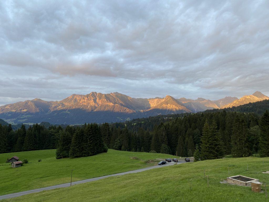 Alpenglühen, Allgäu
