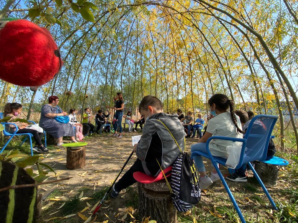 Umweltreferentin Grünes Klassenzimmer der Landesgartenschau Kamp-Lintfort 2020