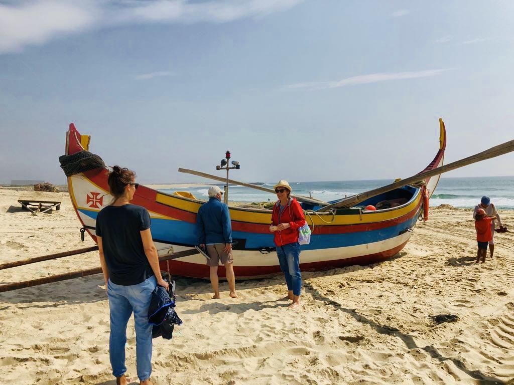 Strandspaziergang in Espinho, Portugal